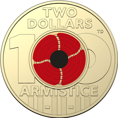 2018 $2 Remembrance Day Unc