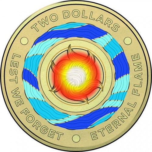2018 $2 Eternal Flame Albr Unc Coin