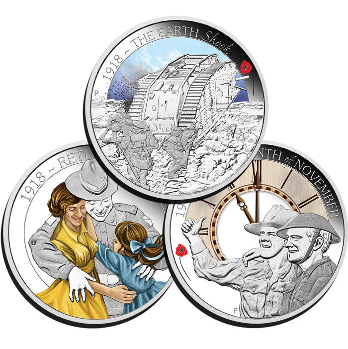 2018 50c The ANZAC Spirit 1/2oz Silver Proof Three-Coin Set