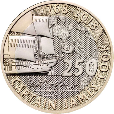 2018 UK £2 Captain Cook BU