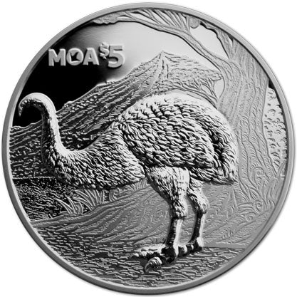 2018 NZ $5 Extinct Moa 1oz Silver Proof Coin