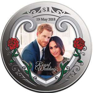2018 NZ $1 Royal Wedding 1oz Silver Proof Coin