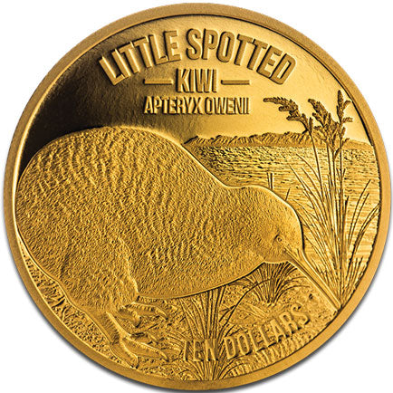 2018 NZ $10 Kiwi 1/4oz Gold Proof Coin