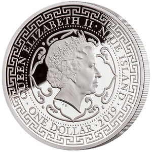 2019 Niue $1 Japanese Trade Dollar 1oz Silver Proof