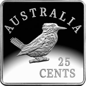 2019 25c Square Kookaburra 1/4oz Silver Set