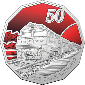 2019 50c 90th Anniv. of the Ghan CuNi Unc
