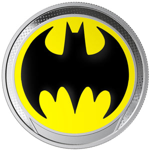 2018 Barbados $1 Batman Glow In The Dark Silver Proof