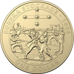 2019 $1 Mutiny and Rebellion - Eureka Stockade Al-Br Unc