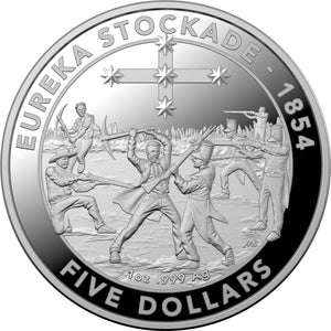 2019 $5 Mutiny and Rebellion - Eureka Stockade 1oz Silver Proof