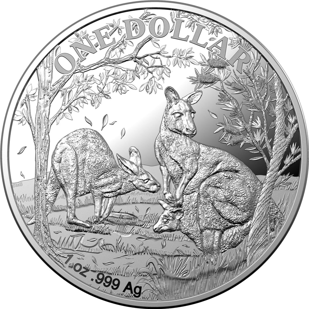 2019 $1 Kangaroo 1oz Silver Proof