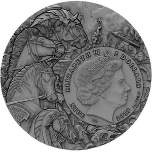 2019 Niue $2 Four Horseman - Red Horse 2oz Silver Coin