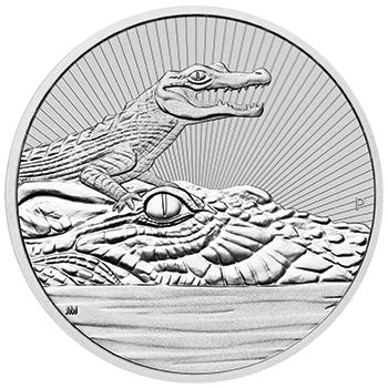 2019 $10 Mother & Baby Croc 10oz Silver BU