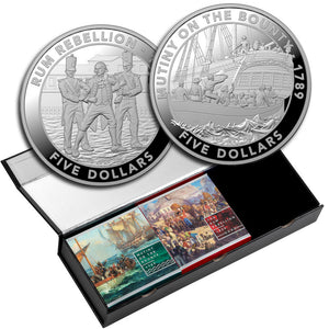 2019 Mutiny & Rebellion - The Bounty & Rum Rebellion in 3-coin case