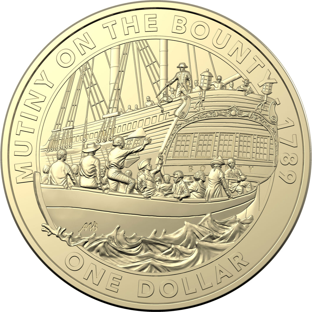 2019 $1 Mutiny and Rebellion - The Bounty Al-Br Unc