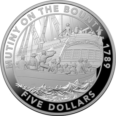 2019 $5 Mutiny & Rebellion - The Bounty 1oz Silver Proof