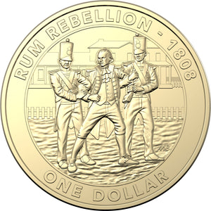 2019 $1 Mutiny and Rebellion - Rum Rebellion Al-Br Unc