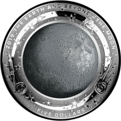 2018 $5 Moon Curved 1oz Silver Coin