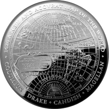 2019 $5 1626 Columbus/Drake/Cavendish Domed 1oz Silver Proof