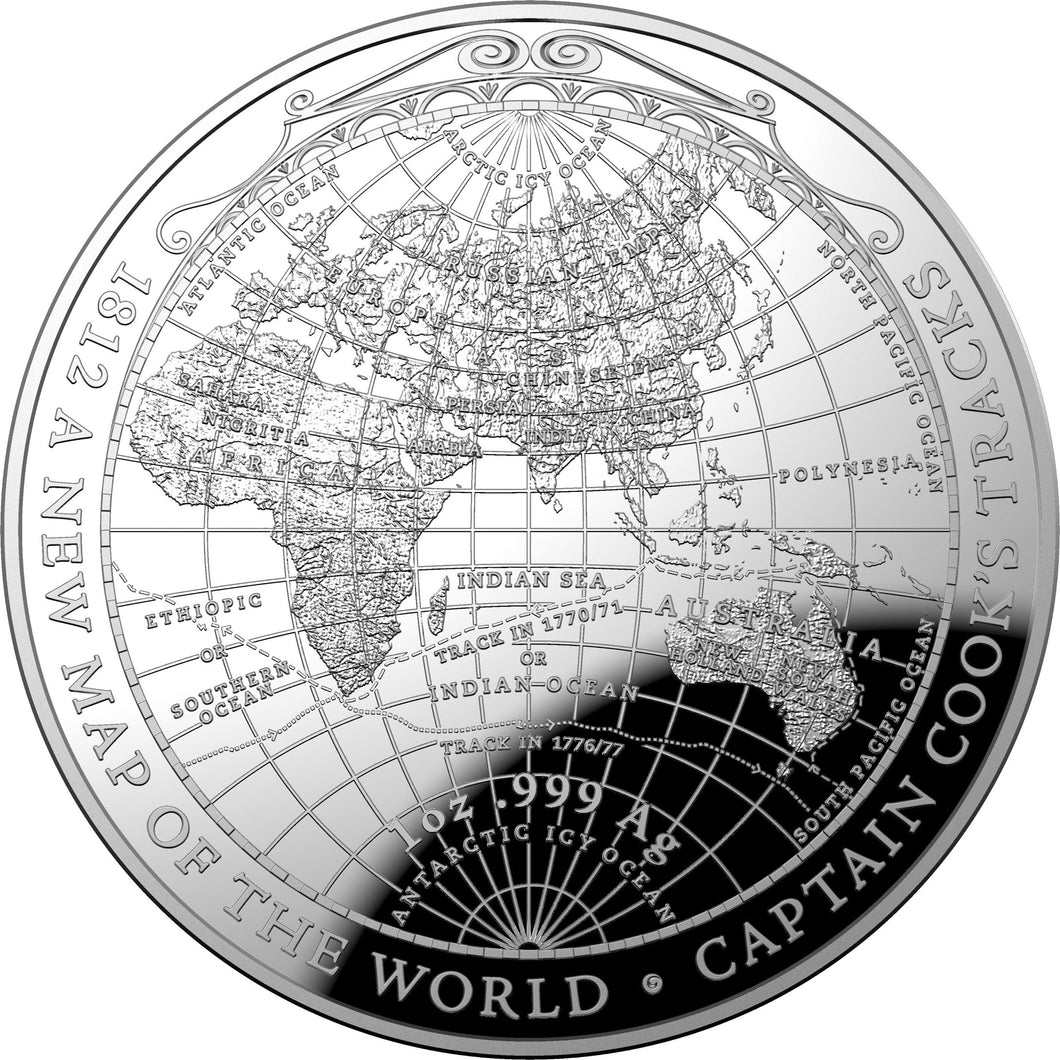 2019 $5 Cook's Voyages Domed 1oz Silver Proof
