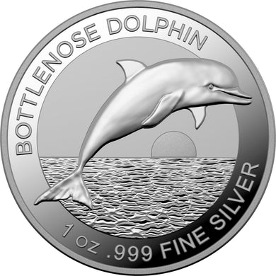 2019 $5 Bottlenose Dolphin High Relief 1oz Silver Proof