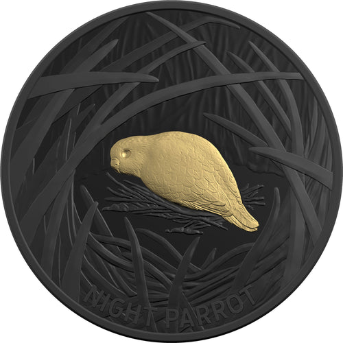 2019 $5 Echoes of Australia - Night Parrot 1oz Silver Proof Coin