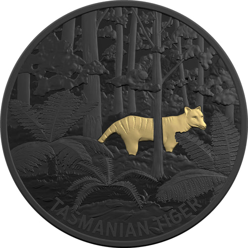 2019 $5 Echoes of Australia - Tasmanian Tiger 1oz Silver Proof Coin