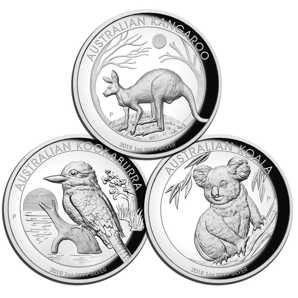2019 $1 High Relief 1oz Silver Proof Three-Coin Collection