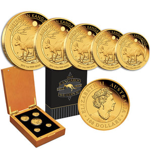 2019 Australian Kangaroo Five-Coin Gold Proof Set