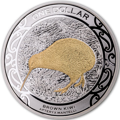 2019 NZ $1 Kiwi 1oz Silver proof