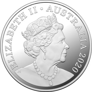 2020 $1 Qantas Centenary 1/2oz Silver Proof Coin