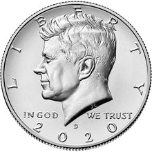 2020 USA JFK Half Dollar Mint Roll