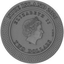 2020 Niue $2 Gods - Apollo 2oz Silver Coin