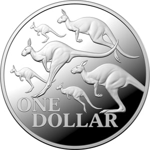 2020 $1 Red Kangaroo 1oz Silver Proof
