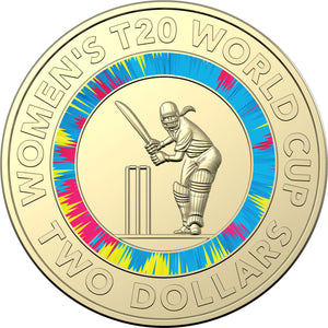 2020 $2 ICC Women's T20 World Cup Unc in Folder