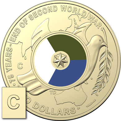 2020 $2 75th anniversary of WWII 'C' Mintmark Unc