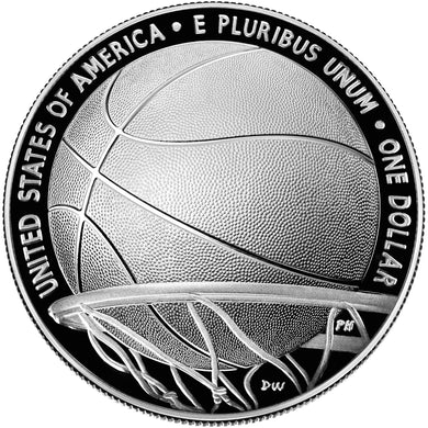 2020 USA $1 Basketball Hall of Fame Silver Proof Coin