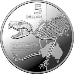 2020 $5 Inside Australia's Most Dangerous - Tasmanian Devil 1oz Silver Proof