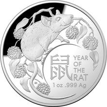 2020 $5 Lunar Rat Dome 1oz Silver Proof