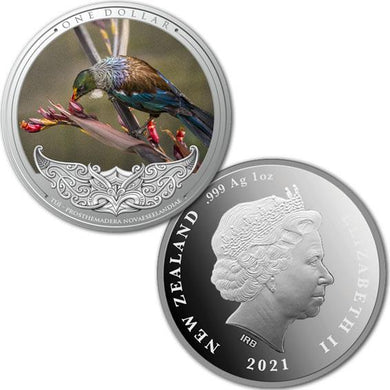 2020 NZ $1 Discover New Zealand - Tui Silver Proof Coin