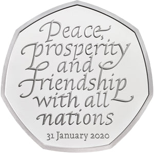 2020 UK 50p BREXIT Silver Proof