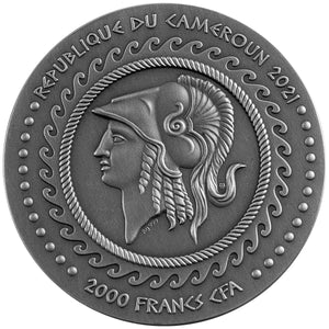 2021 Cameroon 2000Fr Alexander the Great Gordian Knot 2oz Silver Coin