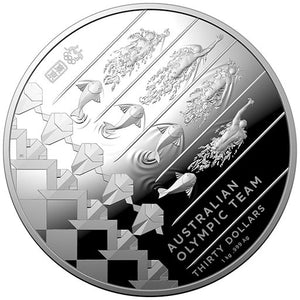 2020 $30 Australian Olympic Team 1kg Silver Proof