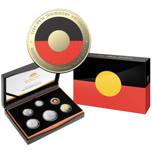 2021 Annual Proof Coin Set  - 50th Anniversary of the Aboriginal Flag