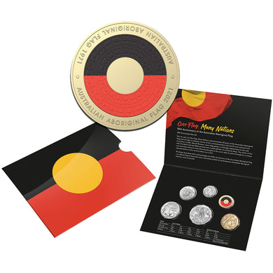 2021 Annual Uncirculated Coin Set - 50th Anniversary of the Aboriginal Flag