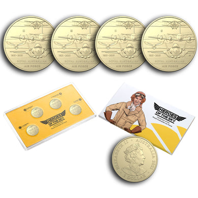 2021 $1 RAAF Centenary Privymark & Mintmark Unc 4-coin Set