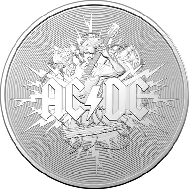 2021 $1 AC-DC Silver Frosted Uncirculated Coin