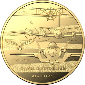 2021 $10 RAAF Centenary 1/10oz Gold Proof Coin