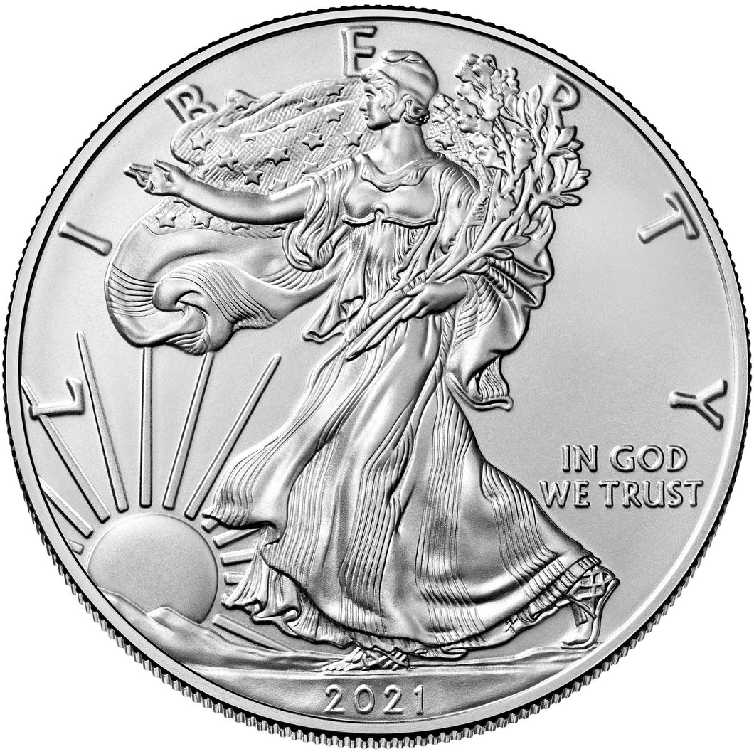 2021 USA $1 American Eagle 1oz Silver Coin
