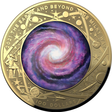 2021 $100 The Milky Way Domed 1oz Gold Proof
