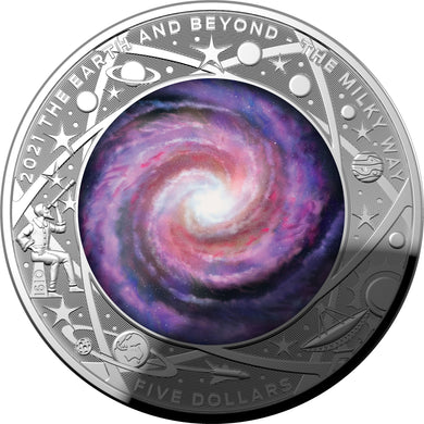 2021 $5 The Milky Way Domed Silver Proof *ONE PER CUSTOMER*